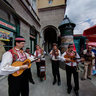 Traditional band at Dolac market place 