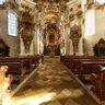 inside the Pilgrimage Church of Wies (German: Wieskirche) - UNESCO World Heritage