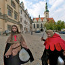 Troubadours  in Tabor town square, Czech Republic