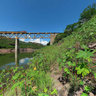 Chihuahua al Pacifico railroad bridge at presa Hiutes