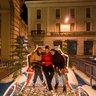 Alessandria, Piazza della Libertà: Bright Santa's sleigh and reindeer, Christmas 2011