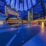 Sony Center Berlin blue