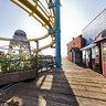 Santa Monica Pier Roller Coaster - Santa Monica, CA USA