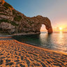 Dorset. Lulworth. Durdle Door Sunset