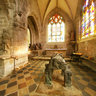 France Bretagne Finistere Locronan church inside