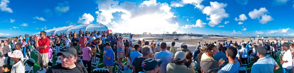 Top Gear at Bushy Park Barbados 2014 - last race from VIP