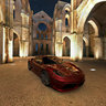 Ferrari at San Galgano (Gran Tourismo video game graphics)