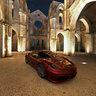Ferrari at San Galgano (Gran Tourismo video game graphics)