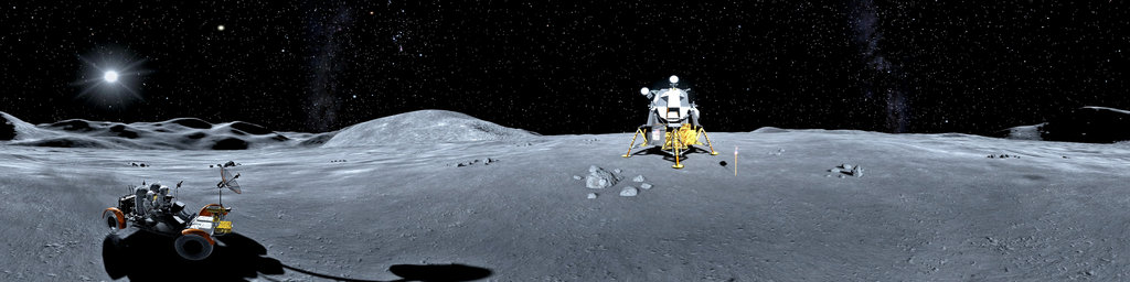 Gran Turismo 6 - lunar rover on moon