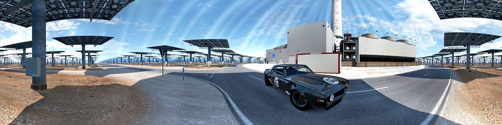 Gran Turismo - camaro race car at solar farm