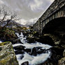 Under the bridge - Afon Ogwen in north Wales under the A5