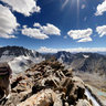 The High Altitude Panorama North Pakistan  K-2  Viewpoint 5300m Above Sea Level