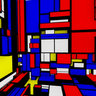 In a Mondrian cube