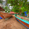 Boat Painting at Rawai Beach Phuket Thailand