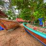 Boat Painting at Rawai Beach Phuket Thailand