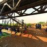 Under Long Bien Bridge
