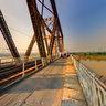 Morning in Long Bien bridge