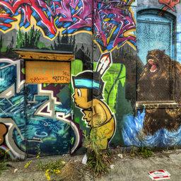 Yale and John Alley, Graffiti 2, Indian with Bears, Seattle, WA