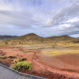 Claystone Mounds, Painted Cove Trail, Painted Hills, Mitchell, OR