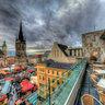 Marktplatzpanorama in Halle (Saale)