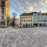 Merseburg, Entenplan mit Stadtkirche St. Maximi