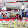 Durian Stall at Bugis Street in Singapore