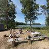 Tourist camp. Kenozersky Nacional Park. Arkhangelsk Region. Russia.