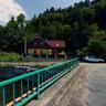 Čierny Hron v Hronci / The River Black Hron in Village Hronec.