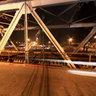 Long Bien bridge at night, Hanoi