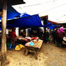 Meat selling area in Bac Ha fair (quy bn tht  ch phin Bc H)