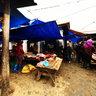 Meat selling area in Bac Ha fair (quầy bán thịt ở chợ phiên Bắc Hà)