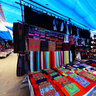 A corner for cloth selling in Bac Ha fair (mt gc vi vc  ch phin Bc H)