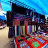 A corner for cloth selling in Bac Ha fair (một góc vải vóc ở chợ phiên Bắc Hà)