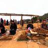 Scent sticks selling area in Dong Van market, Ha Giang (Bán hương trầm ở chợ phiên Đồng Văn)