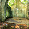 Inside the broken church In Ba Vi National Park, Hanoi, Vietnam (Bn trong nh th  rng quc gia Ba V)