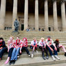 Zombies Flash Mob St Georges Hall Liverpool England