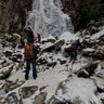 Frozen Waterfall in Mt.Kasagata