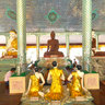 Prayer Room Shwedagon Pagoda Yangon Myanmar