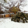 Snow in Westcliff Area of Fort Worth near TCU