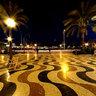 Alicante Explanada de España vista nocturna