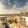 Top of the belfry of Tournai (#1) - Northeast view (on the cathedral)