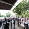 OccupyPortland - Periphery of the Rally at Tom McCall Park under shelter