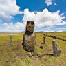 Hanga Te'E Moai Alone