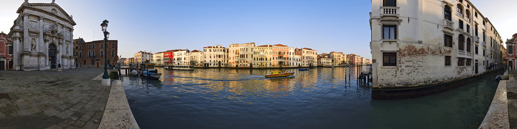 Canale Grande in front of Chiesa San Stae, Venice, Italy