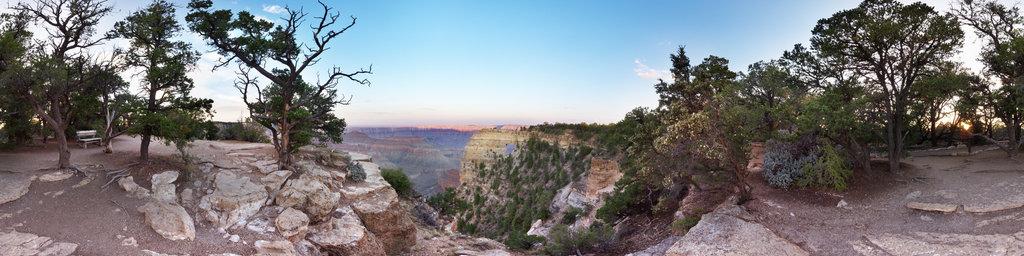 Angel's Window at Point Royal, Grand Canyon, Arizona, USA