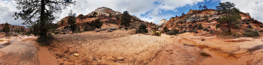 Many Pools Trail, Zion National Park, Utah, USA