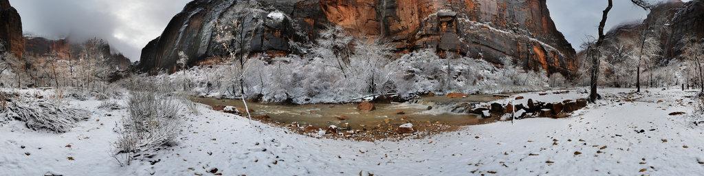 Telephone Canyon Waterfall, Zion National Park, Utah, USA