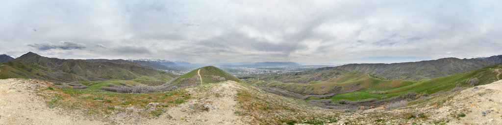 Bonneville Shoreline Trail, Salt Lake City, Utah, USA