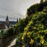 Treppe mit dem Blick auf Baden-Baden, Germany