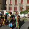 Freshmen Bolivian folk community to the city of La Plata